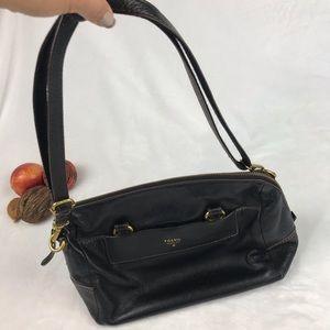 Fossil Leather Handbag Purse Black